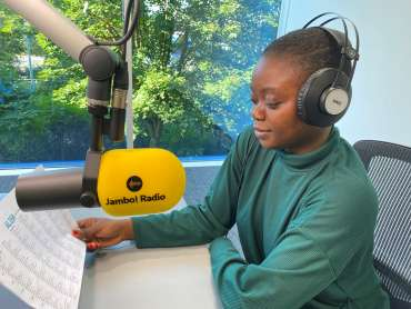 Zainab presenter at Jambo! Radio